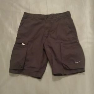 Nike dark grey cargo shorts